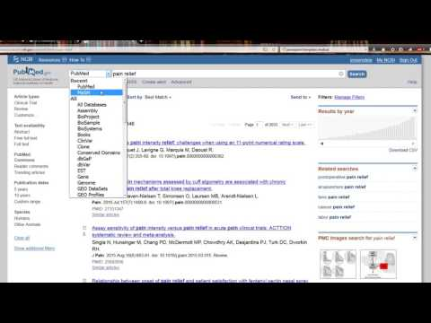 PubMed searching spring 2017