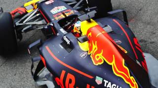 Scarbs on the 2017 F1 Red Bull RB13