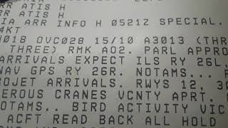 Reading The Current ATIS Information