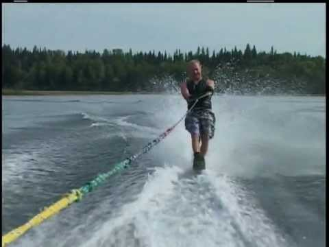 Expert water skiing how to slalom through the course