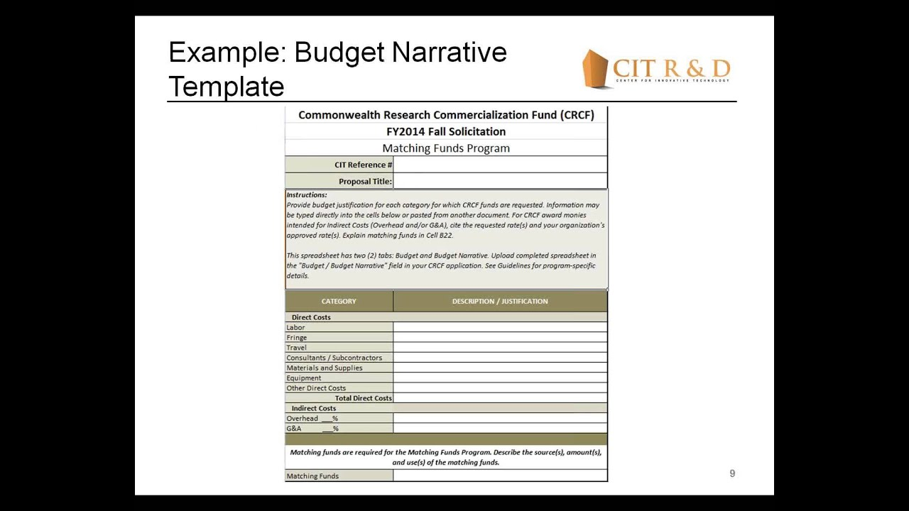 How to Write a Budget Narrative for a Grant