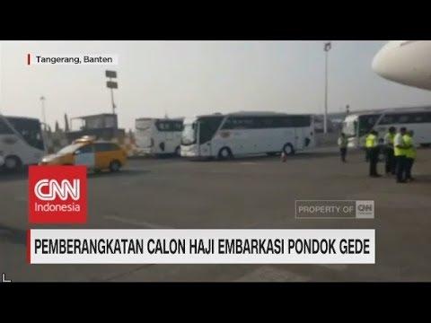 Pemberangkatan Calon Haji Embarkasi Pondok Gede