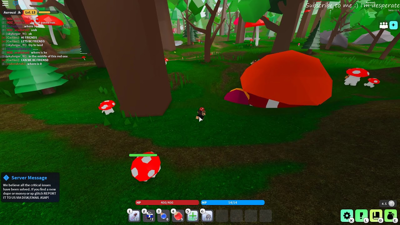 Roblox Quick Tutorial On How To Get Mushroom Hat Vesteria By