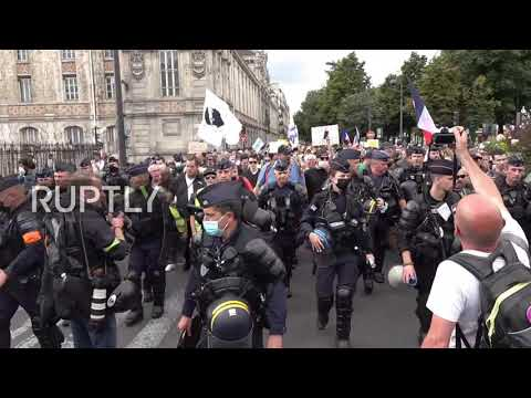 France: Protesters take to Paris streets against health passes, mandatory COVID vaccination