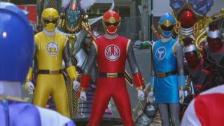 Power Ranger Dino Trueno vs Ninja Storm round 1