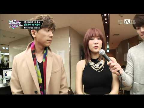 140206 SoYou (Sistar) X Jung Gigo - Interview @ M! Countdown [1080P].mp4