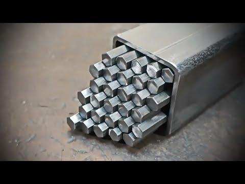 Polygonal Damascus steel.
