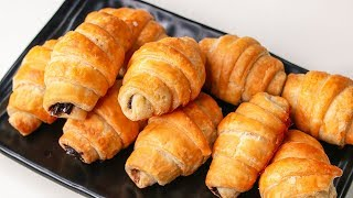 Croissants Recipe  Chocolate Croissants  Eggless &amp Without Oven  Yummy