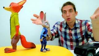 Ник и  Джуди Поссорились?  Видео игрушки из мультика Зверополис.