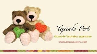 Tutorial Oso Corazon Amigurumi Heart Teddy Bear (English ...