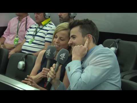2016 Bahrain Inside the Mercedes garage with Steve Jones and Susie Wolff