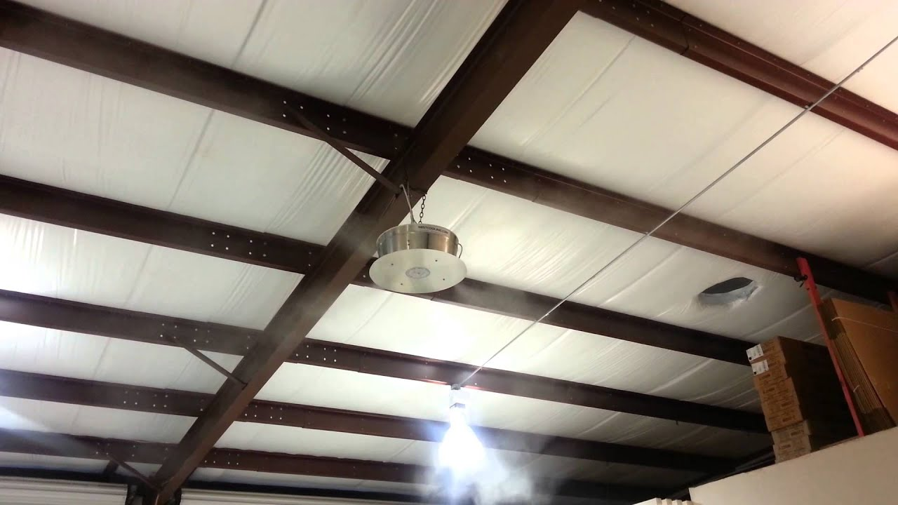 How to cool warehouse with 360 Misting Fan
