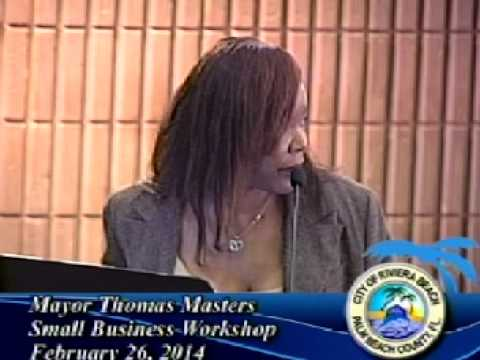 Mayor Thomas Masters's Small Business Workshop Part 1