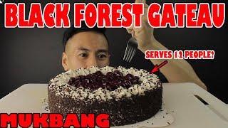 MUKBANG MASSIVE BLACK FOREST GATEAU/CAKE-MASSIVE BITES!!!