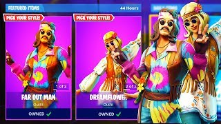 "NEW ""Dreamflower + Far Out Man"" SKINS GAMEPLAY in Fortnite! - (NEW SKINS UPDATE)"