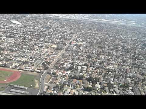 Llegando a Los Angeles, California