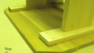 Cedar  Table Instructional Assembly Video [part 3]