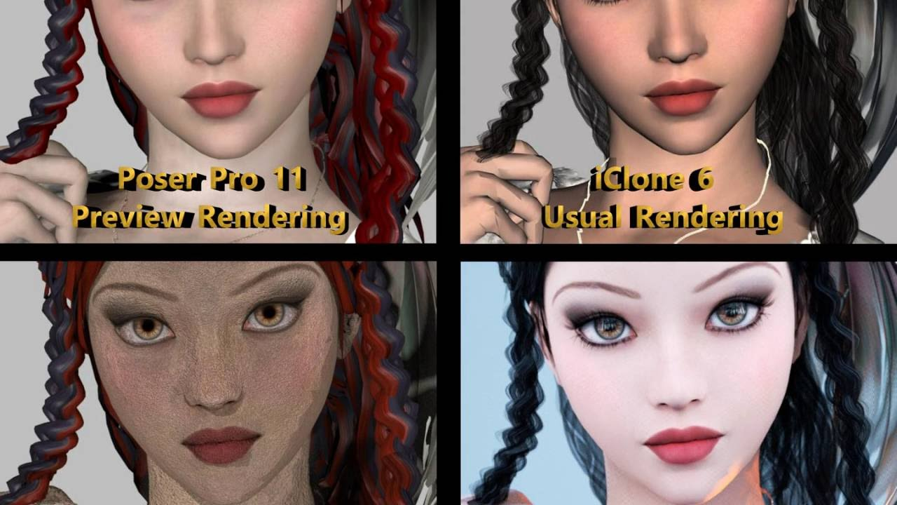 Comparison of Rendering between Poser Pro 11 and iClone 6 (2)