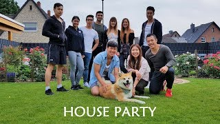 Akita Dog - Yuki is having a lot of fun at our House Party. It was ...