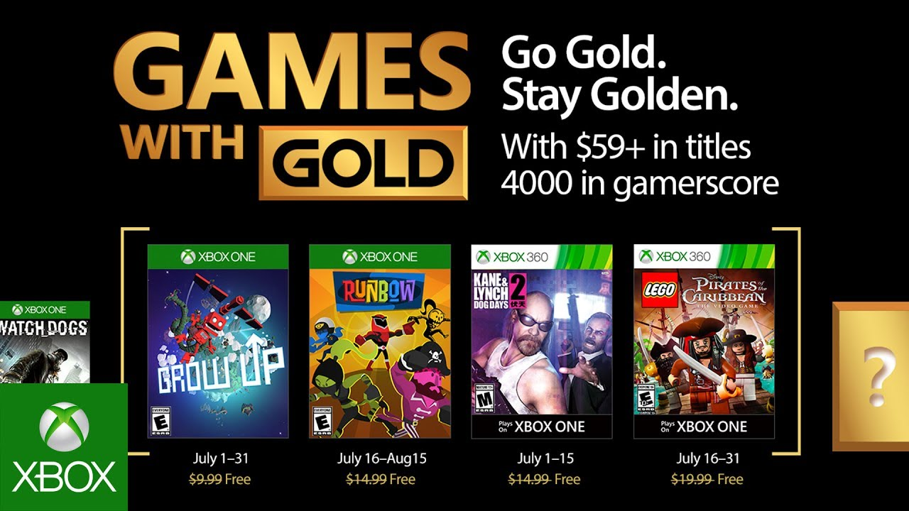 Xbox Gold Games August 2020.Xbox July 2017 Games With Gold