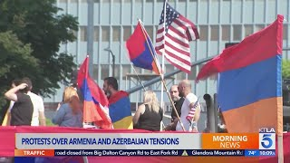 L.A. protests continue against violence in Nagorno-Karabakh