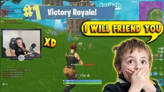 This Kid Got His MIND BLOWN Seeing A No-Skin Carrying SO HARD | Fortnite Battle Royale thumbnail