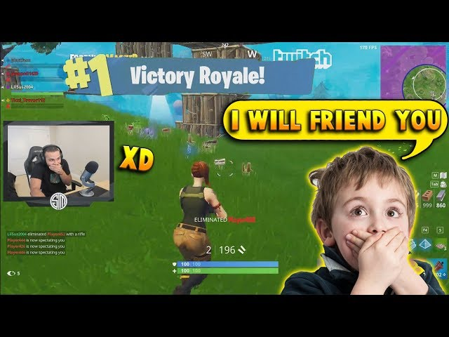 This Kid Got His MIND BLOWN Seeing A No-Skin Carrying SO HARD | Fortnite Battle Royale