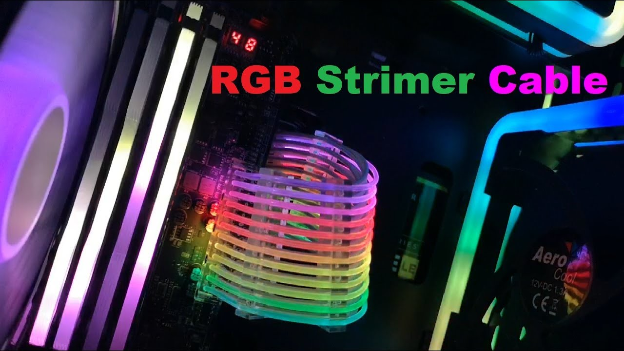 RBW RGB 5V connector controller cable for LIAN LI STRIMER PCIE 8PIN DC 5V AURA