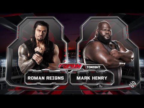 WWE 2K15- Roman Reigns vs Mark Henry Normal Match 2015 (PS4)