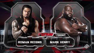 WWE 2K15- Roman Reigns vs Mark Henry Normal Match 2015 (PS4)