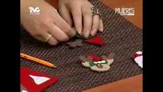 Servilleteros con Figuras Navideñas de Fieltro (METVC)
