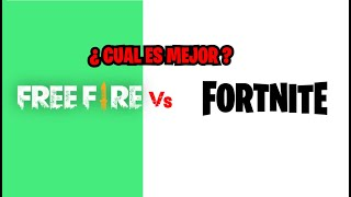 🥊Fortnite vs Free Fire🥊¿PORQUE FORTNITE es MEJOR que FREE FIRE?!!