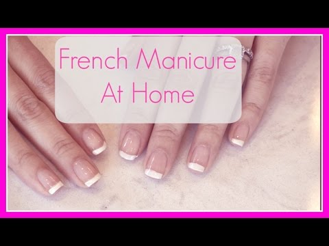 French Manicure At Home (Easy)
