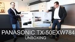 Panasonic TX-50EXW784 - Unboxing - Thomas Electronic Online Shop - 58EXW784 - 65EXW784 - 75EXW784