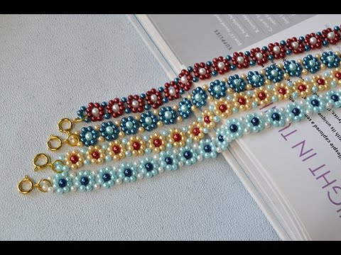 How To Make Light Cyan Yellow Blue And Red Pearl Bead