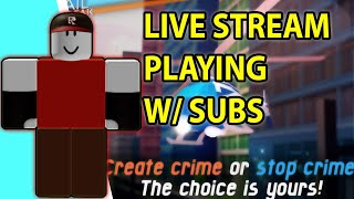 Roblox Mad City Live Stream Now Playing with fans