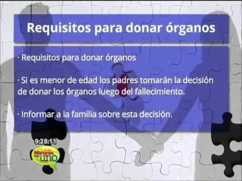 Requisitos para donar órganos