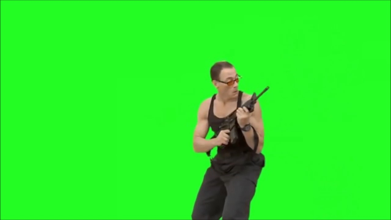 JCVD avec une arme/montage/fond vert/green sceen - YouTube