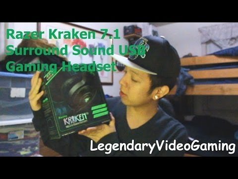 Razer Kraken 7.1 Surround Sound Over Ear USB Gaming Headset Unboxing + Review