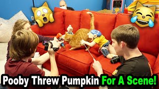 Pooby THREW Pumpkin For A Scene! *BTS*