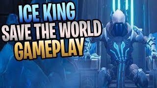 FORTNITE - Fully Upgraded ICE KING Hotfixer Constructor Save The World Gameplay
