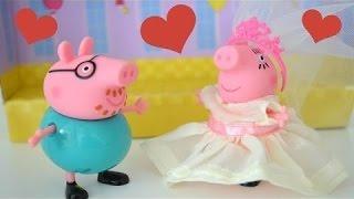mamae豚の結婚式豚パパと家族Peppa豚!