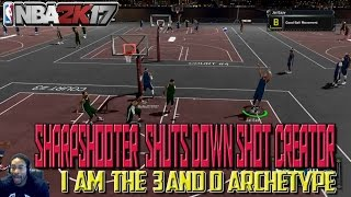 best 3 and d player at rival days sharpshooter locks down shot creator nba 2k17 my park