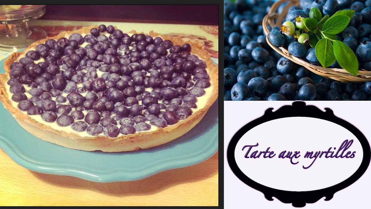 la recette de ma tarte aux myrtilles youtube. Black Bedroom Furniture Sets. Home Design Ideas