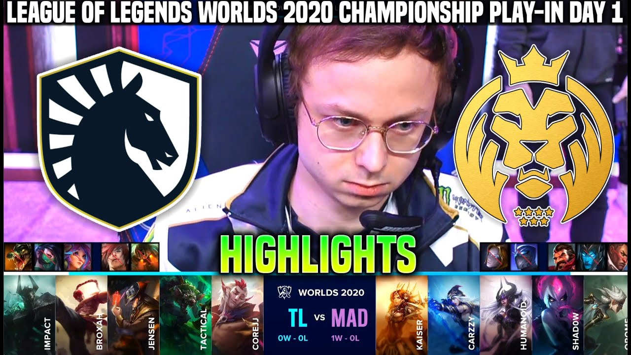 TL vs MAD Highlights Worlds 2020 Play In Day 1 - Team Liquid vs MAD Lions Highlights Worlds 2020