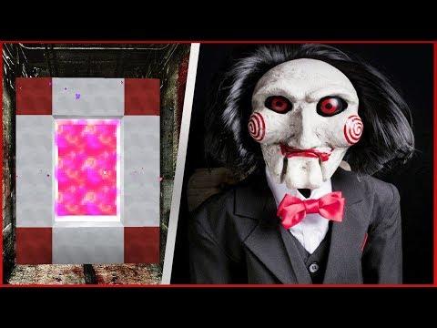 COMO FAZER UM PORTAL PARA O MUNDO DOS JOGOS MORTAIS: JIGSAW - Minecraft