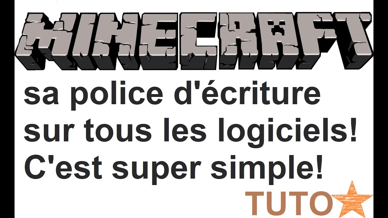 fr  minecraft  tutoriel   comment avoir la police d u0026 39  u00e9criture de minecraft