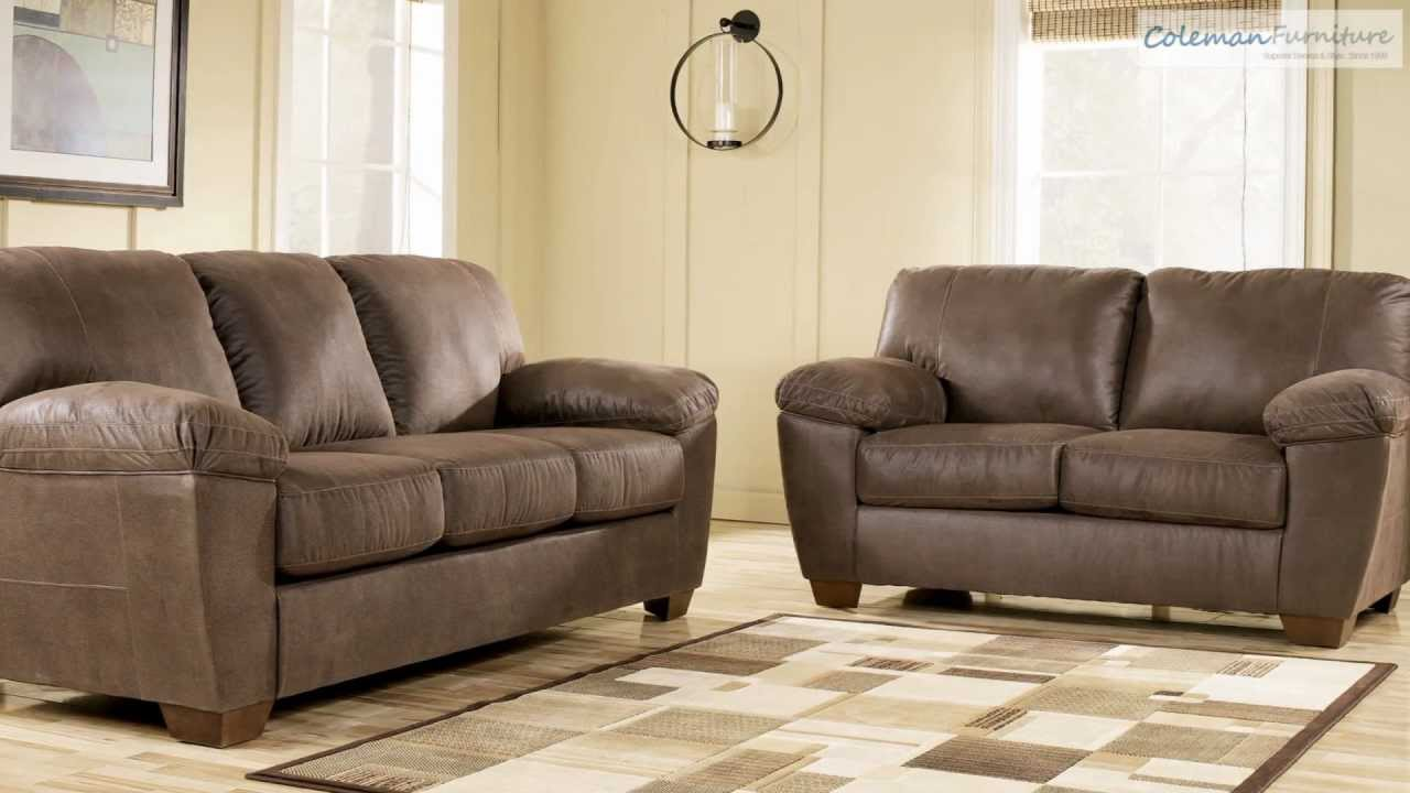 amazon sofa set for living room india walnut collection from signature design by ashley