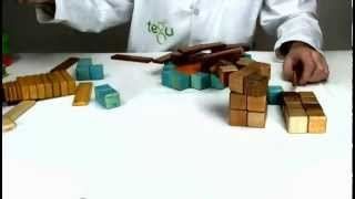 Building The Ny Knicks Logo Out Of Tegu Wooden Construction Toys