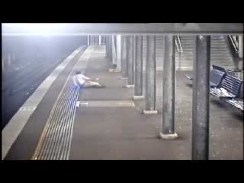 Thug bashes man for money at Bankstown Station Sydney